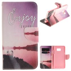 Seaside Scenery PU Leather Wallet Case for Samsung Galaxy Note 7