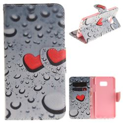 Heart Raindrop PU Leather Wallet Case for Samsung Galaxy Note 7