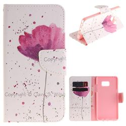 Purple Orchid PU Leather Wallet Case for Samsung Galaxy Note 7