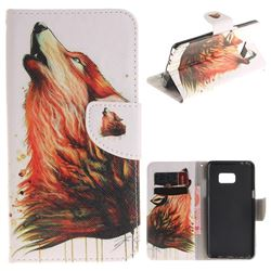 Color Wolf PU Leather Wallet Case for Samsung Galaxy Note 7