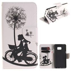 Cycling Dandelion PU Leather Wallet Case for Samsung Galaxy Note 7