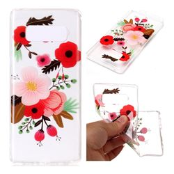 Painting Flowers Super Clear Soft TPU Back Cover for Samsung Galaxy Note 8