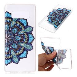 Peacock flower Super Clear Soft TPU Back Cover for Samsung Galaxy Note 8