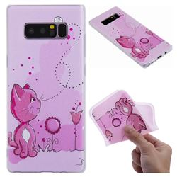 Cat and Bee 3D Relief Matte Soft TPU Back Cover for Samsung Galaxy Note 8