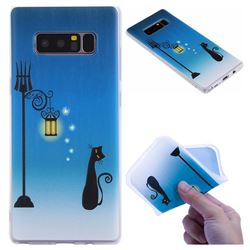 Street Light Cat 3D Relief Matte Soft TPU Back Cover for Samsung Galaxy Note 8