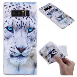 White Leopard 3D Relief Matte Soft TPU Back Cover for Samsung Galaxy Note 8