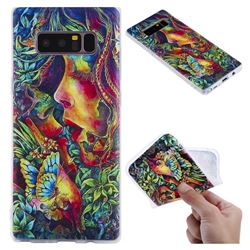 Butterfly Kiss 3D Relief Matte Soft TPU Back Cover for Samsung Galaxy Note 8