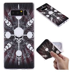 Compass Skulls 3D Relief Matte Soft TPU Back Cover for Samsung Galaxy Note 8