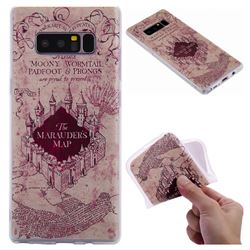 Castle The Marauders Map 3D Relief Matte Soft TPU Back Cover for Samsung Galaxy Note 8
