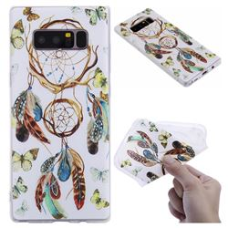 Color Wind Chimes 3D Relief Matte Soft TPU Back Cover for Samsung Galaxy Note 8