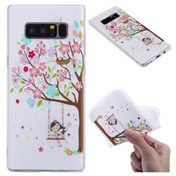 Tree and Girl 3D Relief Matte Soft TPU Back Cover for Samsung Galaxy Note 8