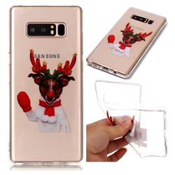 Red Gloves Elk Super Clear Soft TPU Back Cover for Samsung Galaxy Note 8