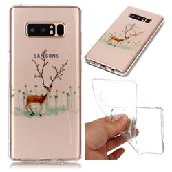 Branches Elk Super Clear Soft TPU Back Cover for Samsung Galaxy Note 8