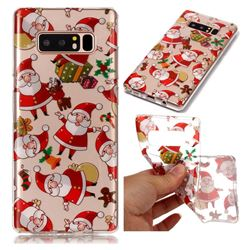 Santa Claus Super Clear Soft TPU Back Cover for Samsung Galaxy Note 8