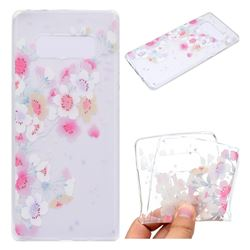 Peach Super Clear Soft TPU Back Cover for Samsung Galaxy Note 8