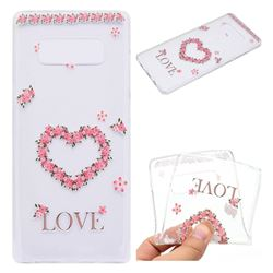 Heart Garland Super Clear Soft TPU Back Cover for Samsung Galaxy Note 8