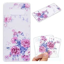 Peony Super Clear Soft TPU Back Cover for Samsung Galaxy Note 8