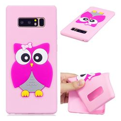 Pink Owl Soft 3D Silicone Case for Samsung Galaxy Note 8
