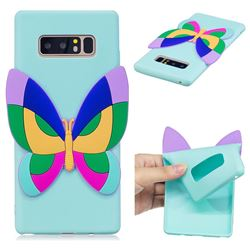 Rainbow Butterfly Soft 3D Silicone Case for Samsung Galaxy Note 8