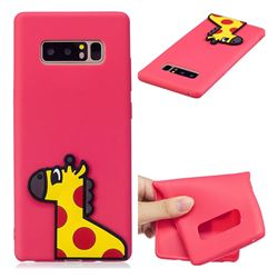 Yellow Giraffe Soft 3D Silicone Case for Samsung Galaxy Note 8