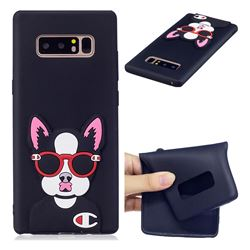 Glasses Gog Soft 3D Silicone Case for Samsung Galaxy Note 8