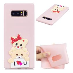 Love Bear Soft 3D Silicone Case for Samsung Galaxy Note 8