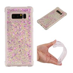 Dynamic Liquid Glitter Sand Quicksand Star TPU Case for Samsung Galaxy Note 8 - Rose