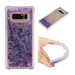 Dynamic Liquid Glitter Sand Quicksand Star TPU Case for Samsung Galaxy Note 8 - Purple