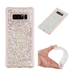 Dynamic Liquid Glitter Sand Quicksand Star TPU Case for Samsung Galaxy Note 8 - Silver