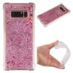 Dynamic Liquid Glitter Sand Quicksand Star TPU Case for Samsung Galaxy Note 8 - Diamond Rose