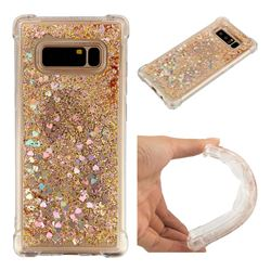 Dynamic Liquid Glitter Sand Quicksand Star TPU Case for Samsung Galaxy Note 8 - Diamond Gold
