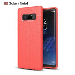Luxury Auto Focus Litchi Texture Silicone TPU Back Cover for Samsung Galaxy Note 8 - Red