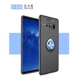 Auto Focus Invisible Ring Holder Soft Phone Case for Samsung Galaxy Note 8 - Black Blue
