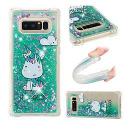 Tiny Unicorn Dynamic Liquid Glitter Sand Quicksand Star TPU Case for Samsung Galaxy Note 8