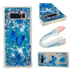 Flower Butterfly Dynamic Liquid Glitter Sand Quicksand Star TPU Case for Samsung Galaxy Note 8