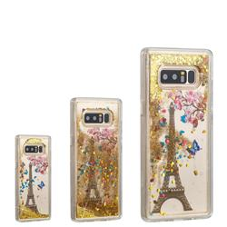 Golden Tower Dynamic Liquid Glitter Quicksand Soft TPU Case for Samsung Galaxy Note 8