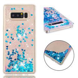 Dynamic Liquid Glitter Quicksand Sequins TPU Phone Case for Samsung Galaxy Note 8 - Blue