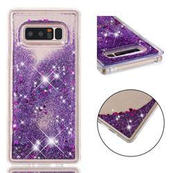 Dynamic Liquid Glitter Quicksand Sequins TPU Phone Case for Samsung Galaxy Note 8 - Purple
