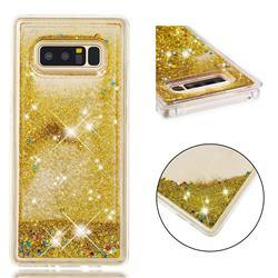 Dynamic Liquid Glitter Quicksand Sequins TPU Phone Case for Samsung Galaxy Note 8 - Golden