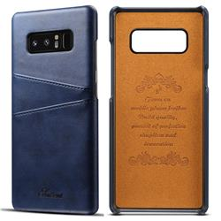 Suteni Retro Classic Card Slots Calf Leather Coated Back Cover for Samsung Galaxy Note 8 - Blue