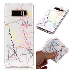 Color White Marble Pattern Bright Color Laser Soft TPU Case for Samsung Galaxy Note 8