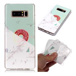 Donuts Marble Pattern Bright Color Laser Soft TPU Case for Samsung Galaxy Note 8
