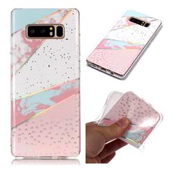 Matching Color Marble Pattern Bright Color Laser Soft TPU Case for Samsung Galaxy Note 8