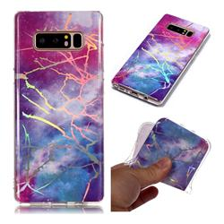 Dream Sky Marble Pattern Bright Color Laser Soft TPU Case for Samsung Galaxy Note 8
