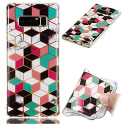 Three-dimensional Square Soft TPU Marble Pattern Phone Case for Samsung Galaxy Note 8