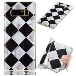 Black and White Matching Soft TPU Marble Pattern Phone Case for Samsung Galaxy Note 8