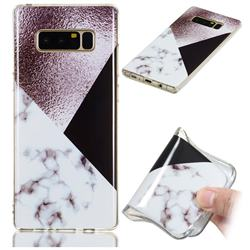 Black white Grey Soft TPU Marble Pattern Phone Case for Samsung Galaxy Note 8