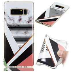 Pinstripe Soft TPU Marble Pattern Phone Case for Samsung Galaxy Note 8
