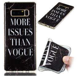 Stylish Black Soft TPU Marble Pattern Phone Case for Samsung Galaxy Note 8