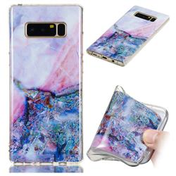 Purple Amber Soft TPU Marble Pattern Phone Case for Samsung Galaxy Note 8